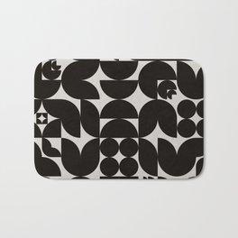 Black & White Mid Century Modern Pattern Bath Mat