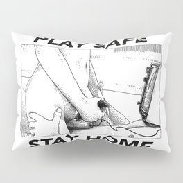 asc 443 - Le joystick (Toying with Pong) STAY HOME Pillow Sham