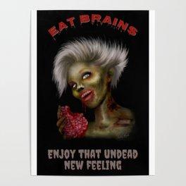 Eat Brains Poster