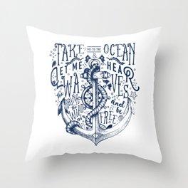 OCEAN IS CALLING Throw Pillow