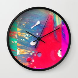 SUmmer neons Wall Clock