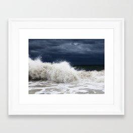 Double Wave Crash Framed Art Print