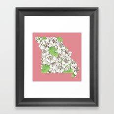 Missouri in Flowers Framed Art Print