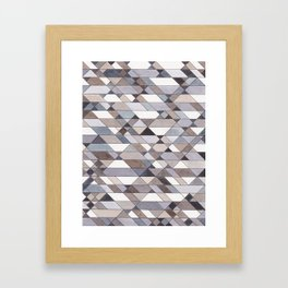 Triangle Pattern no.22 grays Framed Art Print