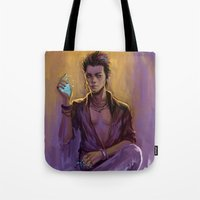 bane Tote Bags featuring Magnus Bane by AkiMao