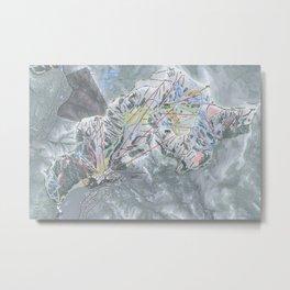 Squaw Valley Resort Trail Map Metal Print