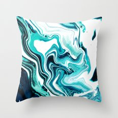 Marble - Sea of Green Throw Pillow