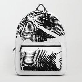 United States Print, Tree rings, Tree stump, Wood grain, Tree ring art Backpack
