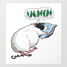 Cucumber dream Art Print