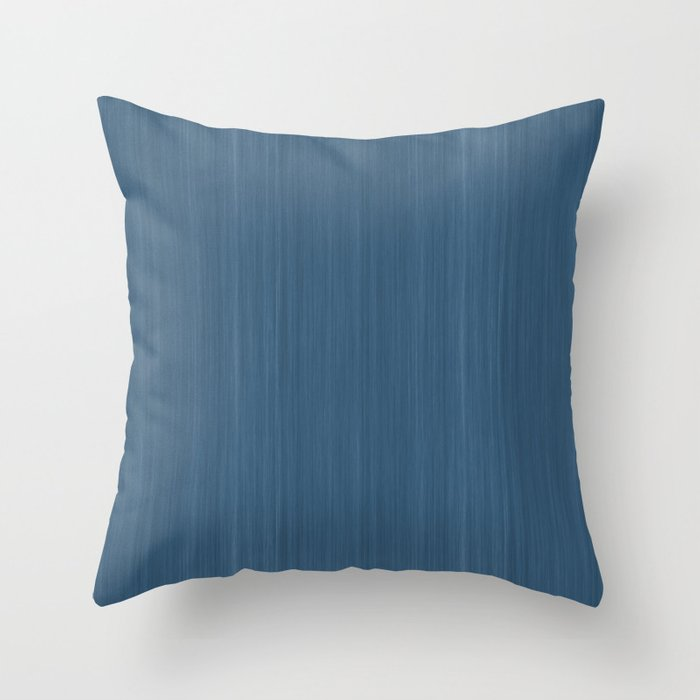 Dark Blue Smooth Wood Grain Pattern Inspired by 2020 Color of the Year Chinese Porcelain PPG1160-6 Throw Pillow