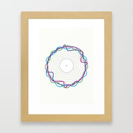 Crystal Castles Illustrative Representation Framed Art Print
