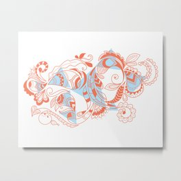 Tribal Paisley Metal Print