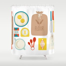 Bakers Table Shower Curtain