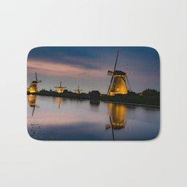 Dutch Wind Mills Bath Mat