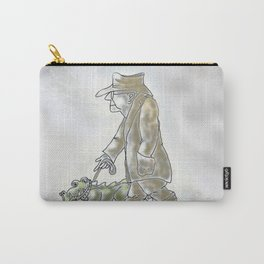 Man Walking Pet   Carry-All Pouch
