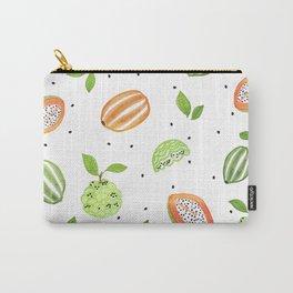Papaya & Custard Apple Carry-All Pouch