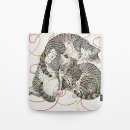 cats gold and rose Tote Bag
