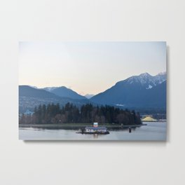 The Floating Gas Station Metal Print