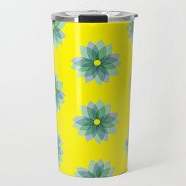 Geo Spring Flowers 02 Travel Mug