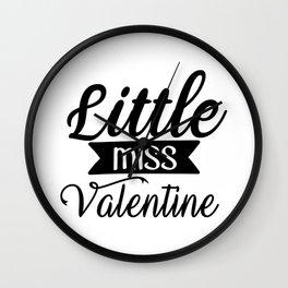 Little Miss Valentine Wall Clock