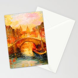 In the evening in Amsterdam Stationery Cards