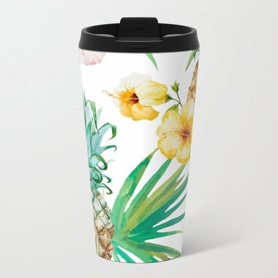 Pineapple Mood Metal Travel Mug