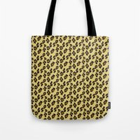 leopard Tote Bags featuring Leopard by Lena Photo Art