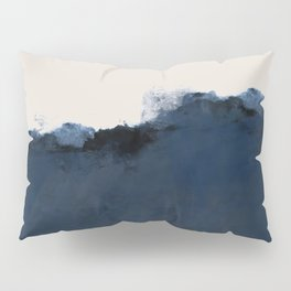 Abstract, blue, beige, indigo Pillow Sham