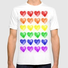 Love Wins White MEDIUM Mens Fitted Tee