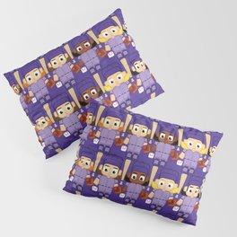 Baseball Purple - Super cute sports stars Pillow Sham