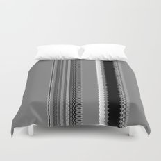 Gray Stripes Abstract Duvet Cover