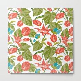 Origami Garden Metal Print