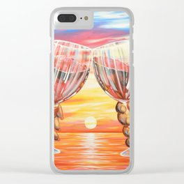 Our Sunset Clear iPhone Case