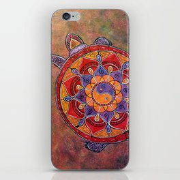 Autumn Turtle - yin yang mandala iPhone Skin