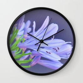 open your heart for the beauty of flowers Wall Clock