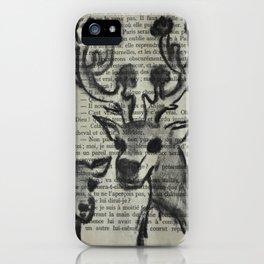 Flowered deer iPhone Case