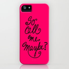Call me maybe song lyrics iPhone Case
