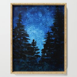 Blue Sky - Evergreen Trees Serving Tray
