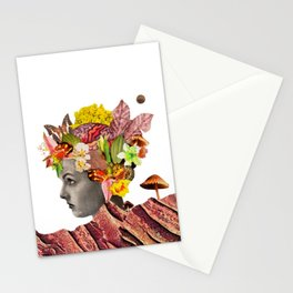 She Moves Mountains - White/Plain Background Stationery Cards