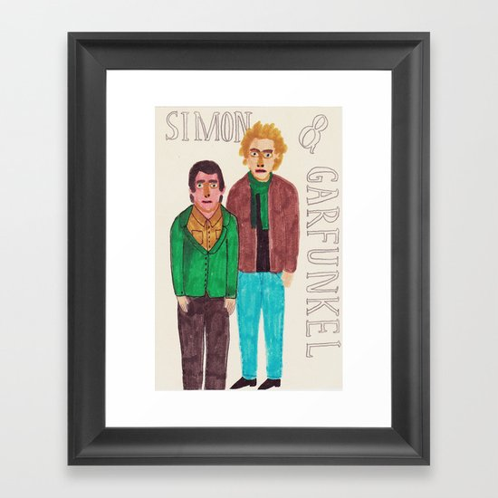 Simon & Garfunkel Framed Art Print