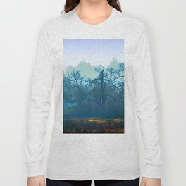 Skragley Oak Trees in the Laguna de Santa Rosa, Sonoma County, California Long Sleeve T-shirt