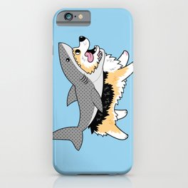 Another Corgi in a Shark Suit iPhone Case