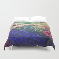 olivia joy Duvet Covers featuring Flowers of my joy by Victoria Herrera