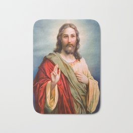 Jesus Christ Blessing Catholic Religion Art Christmas Gift Christian Bath Mat