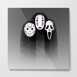 The Three MASKeteers Metal Print