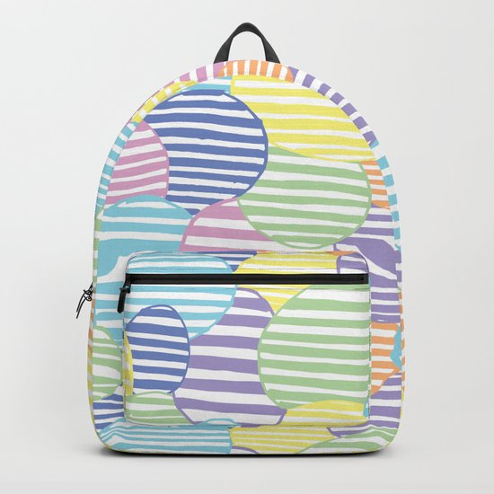 Circled Pastel Lines Backpack