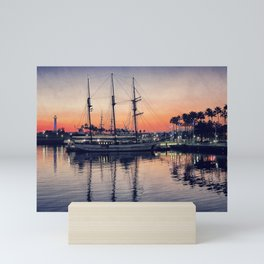 Bay Side Sunset Mini Art Print