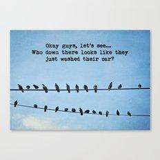 When Pigeons Plan... Canvas Print
