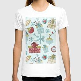 Merry Christmas-Festive gift and Christmas Bowls X-Mas Pattern T-shirt