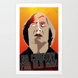 No Country For Old Man Poster Art Print